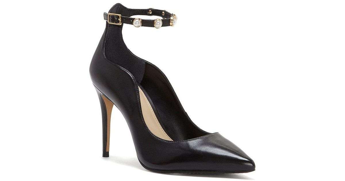 Jassita Pearl Ankle Strap Suede Pumps hQeFYHD