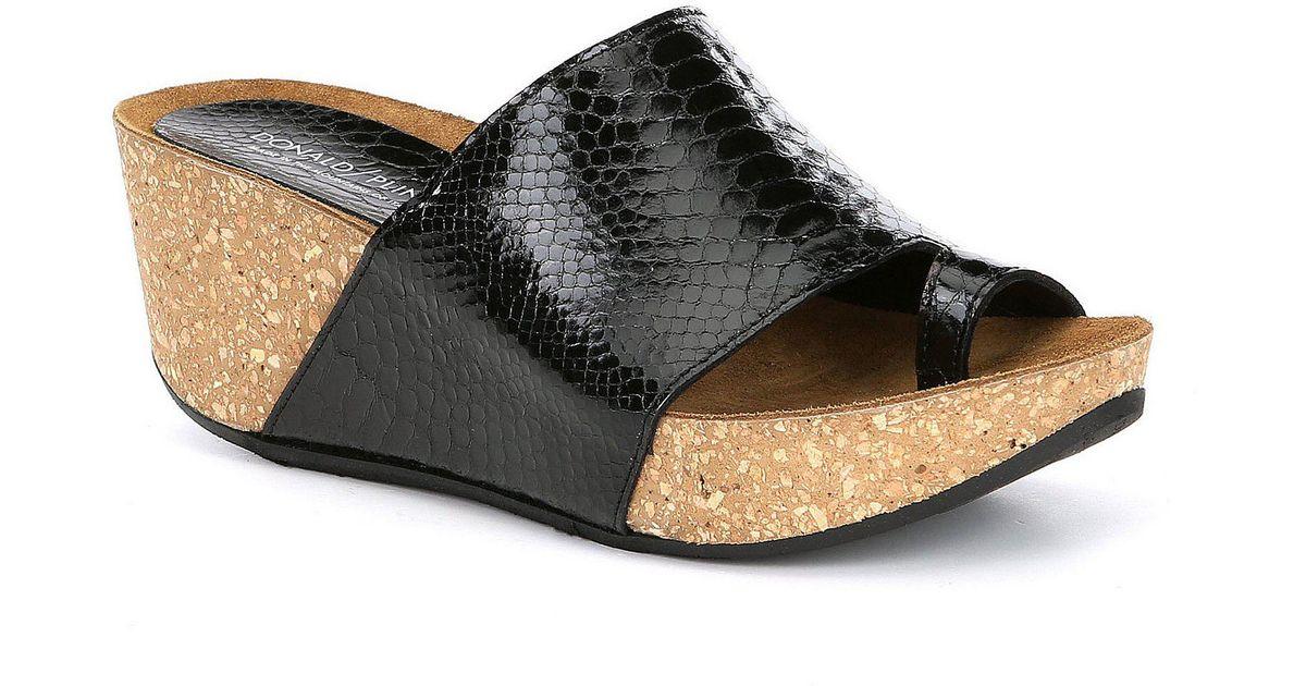 f9b47c1ec250 Lyst - Donald J Pliner Ginie 2 (black Metallic Mini Viper) Women s Shoes in  Black - Save 52%