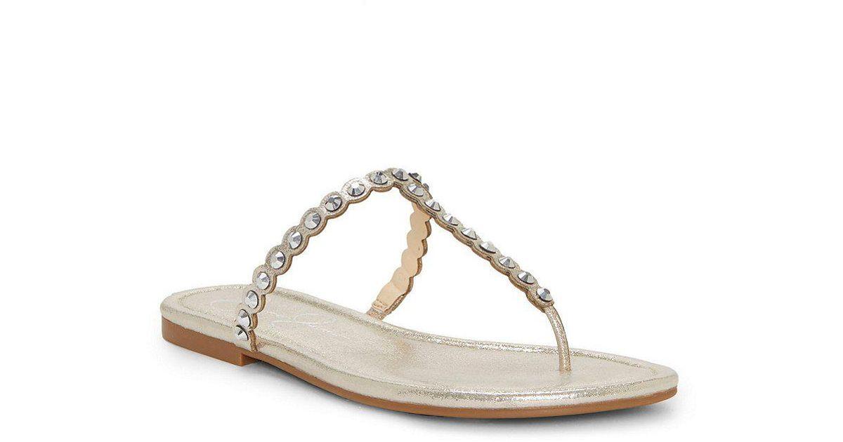 Karlee Jeweled Flat Thong Sandals xqpaAJ2R71