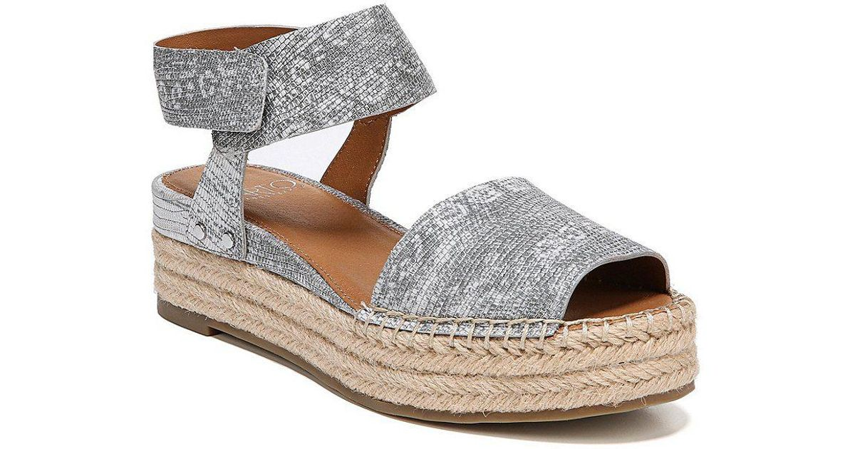 Sarto by Franco Sarto Oak Suede Ankle Strap Espadrille Sandals wu4ncHoaE