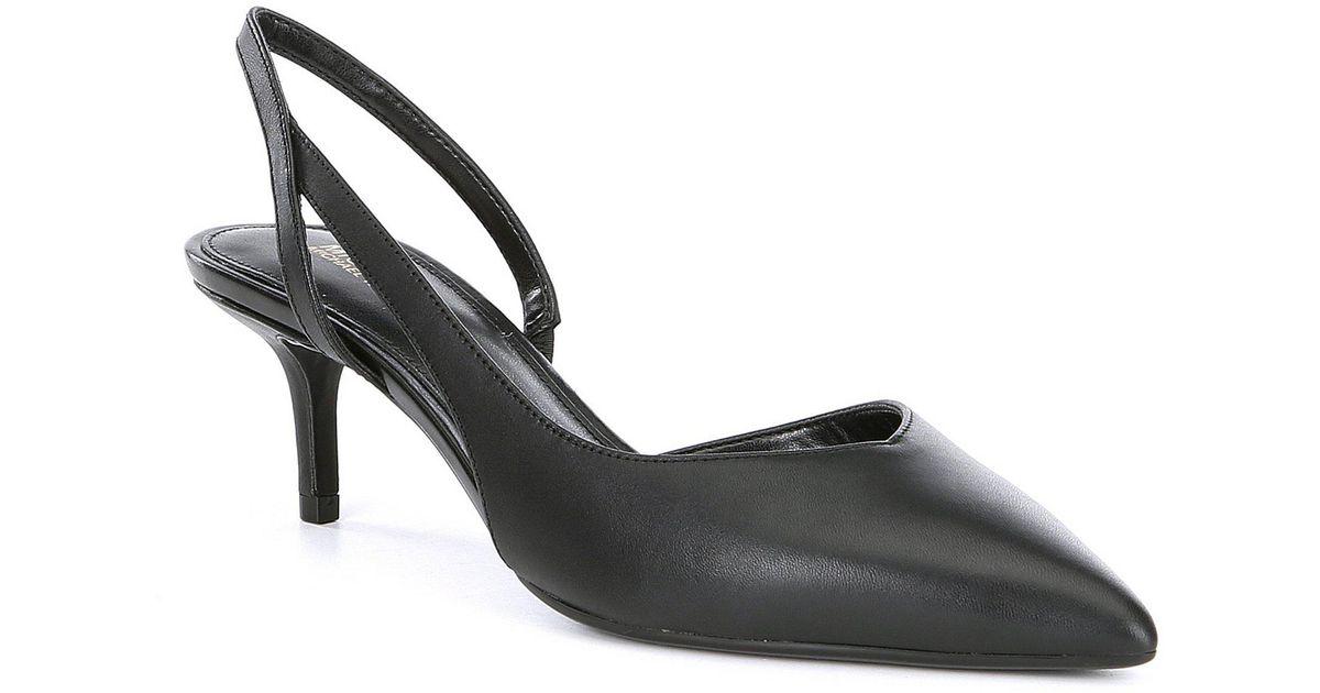 8b147b32fed Lyst - MICHAEL Michael Kors Eliza Flex Kitten Heel Slingback Pumps in Black