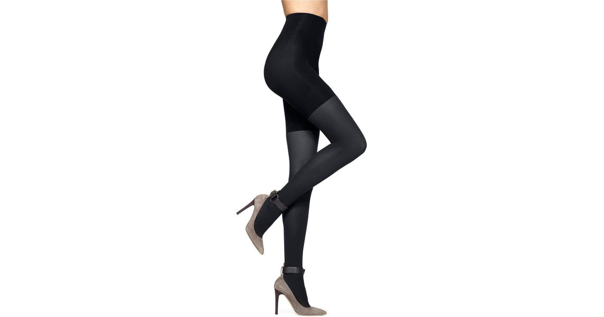 9bc6221615a3f Lyst - Hue High-waist Control Top Opaque Tights in Black