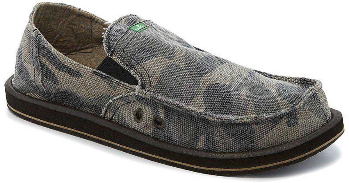 20eeeac27dbc1 Sanuk Camo Pick Pocket Slip-on Shoes in Green for Men - Lyst