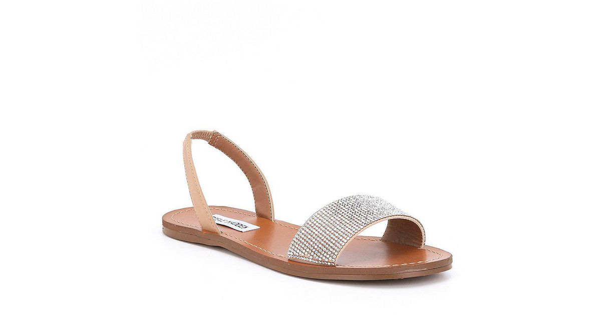 46331cca72fd Lyst - Steve Madden Rock Rhinestone Sandals in Brown