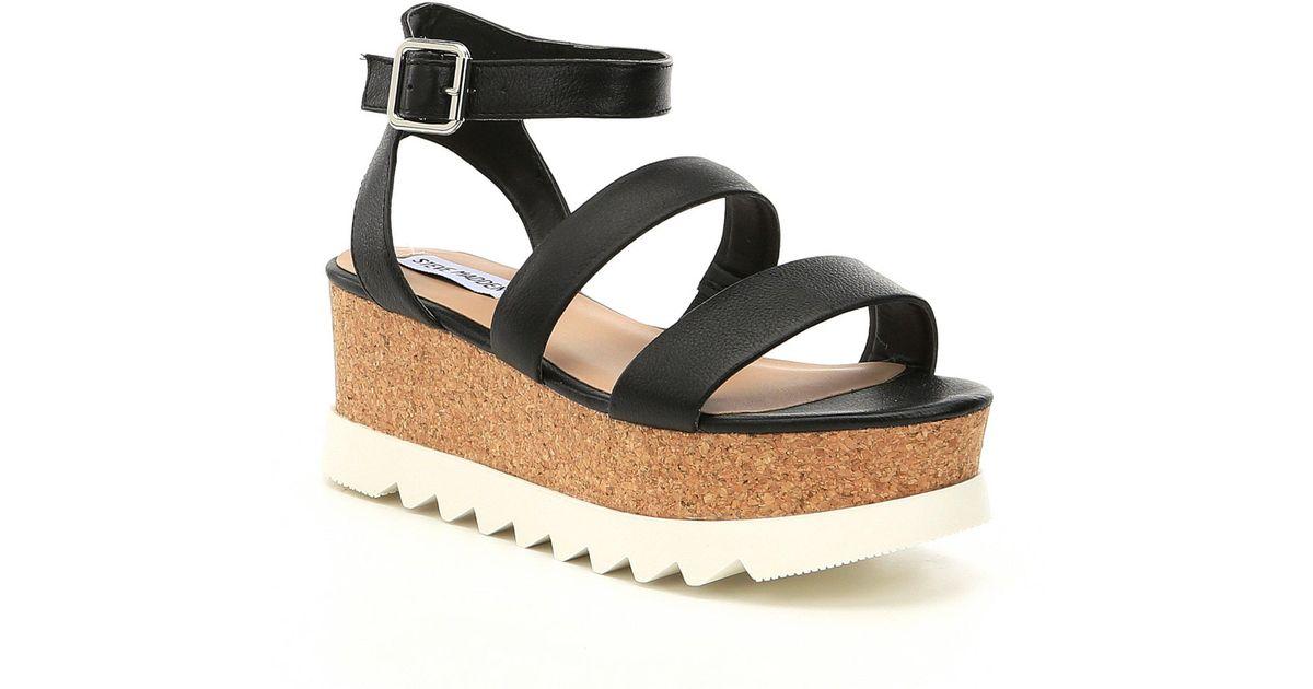 f18f4688adbc Lyst - Steve Madden Kirsten Platform Sandals in Black