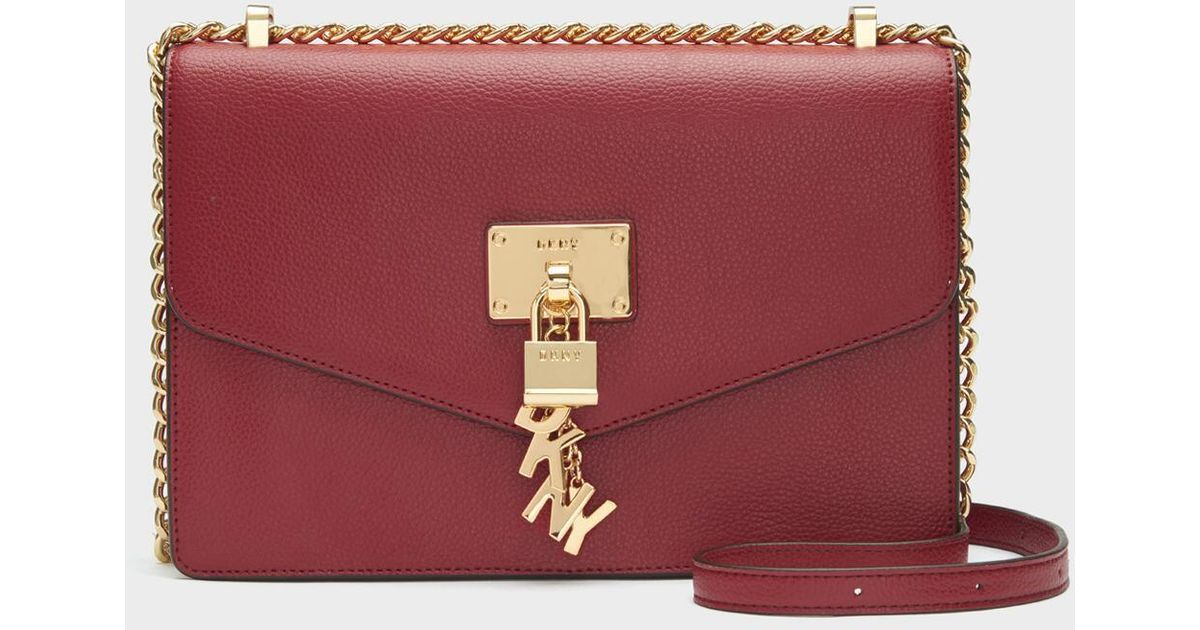 3ffa0e0d1 DKNY Elissa Pebbled Leather Shoulder Bag - Lyst