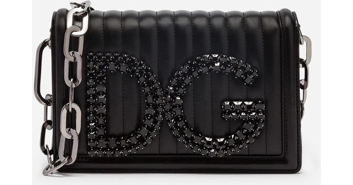 64db2abbe610 Dolce & Gabbana Dg Girls Shoulder Bag In Quilted Nappa Leather in Black -  Lyst