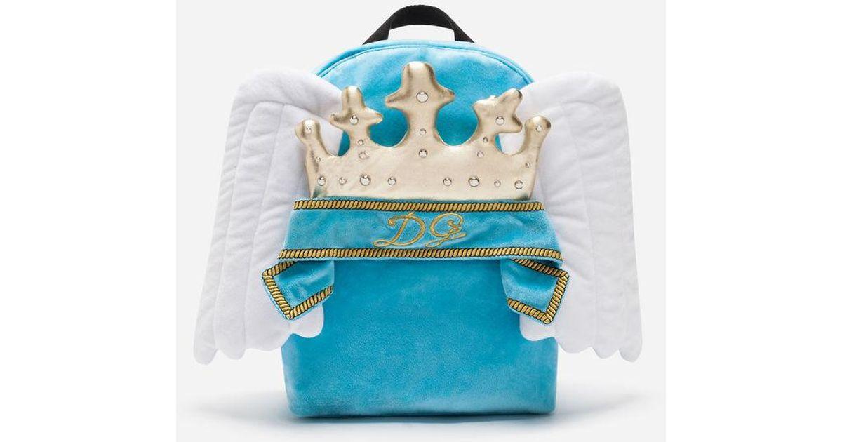 18164dd6736 Mochila En Nailon Con Parches Dolce & Gabbana de hombre de color Azul - Lyst