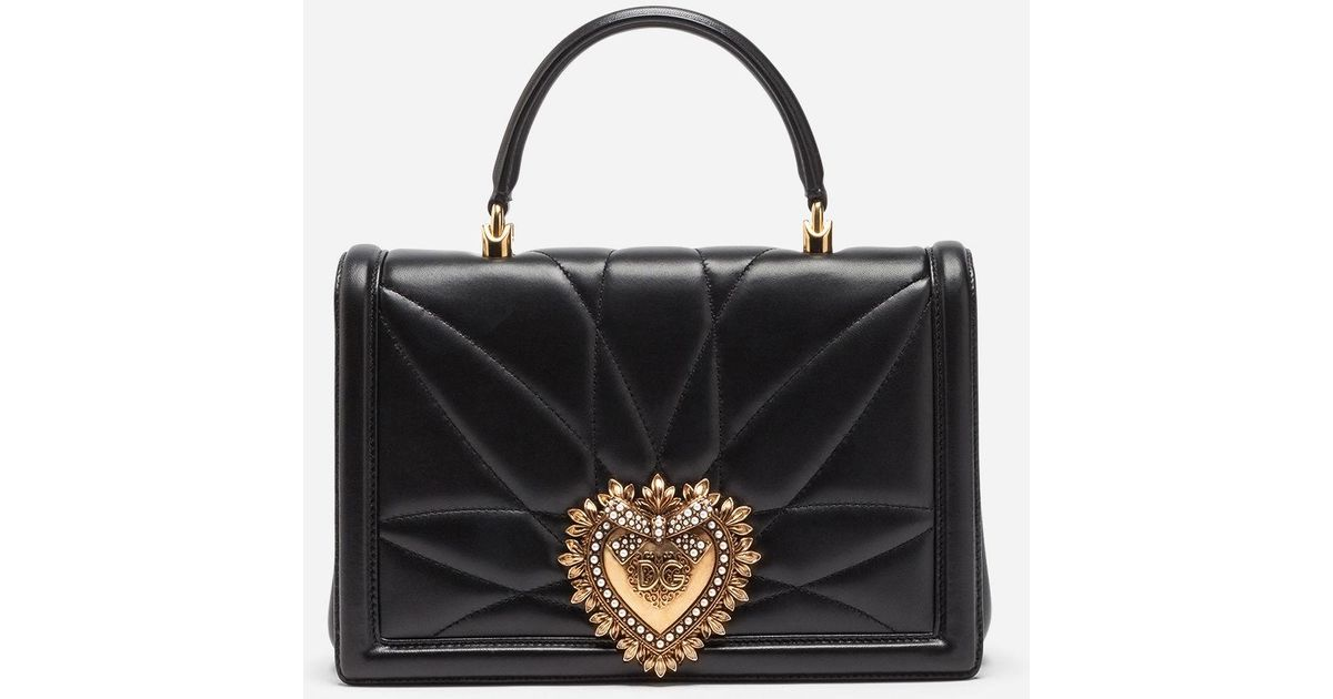 Lyst - Dolce   Gabbana Large Devotion Bag In Quilted Leather in Black 410dc348fb336