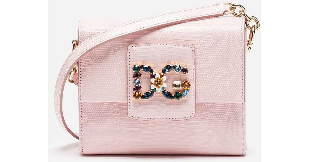 4f40bcb16bcc Lyst Dolce In amp  Leather Bag Pink Millennials Dg Gabbana vqF7q