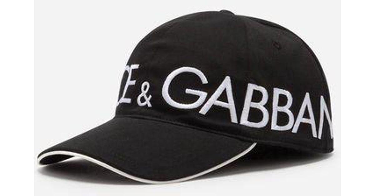 27562ba71d749 Lyst - Gorra De Béisbol De Algodón Con Bordado Dolce Gabbana Dolce   Gabbana  de hombre de color Negro