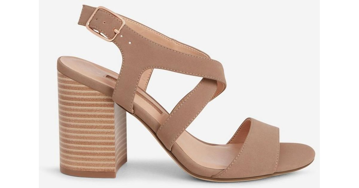 45783471b4b686 Lyst - Dorothy Perkins Wide Fit Tan  spye  Crossover Sandals in Brown -  Save 8%