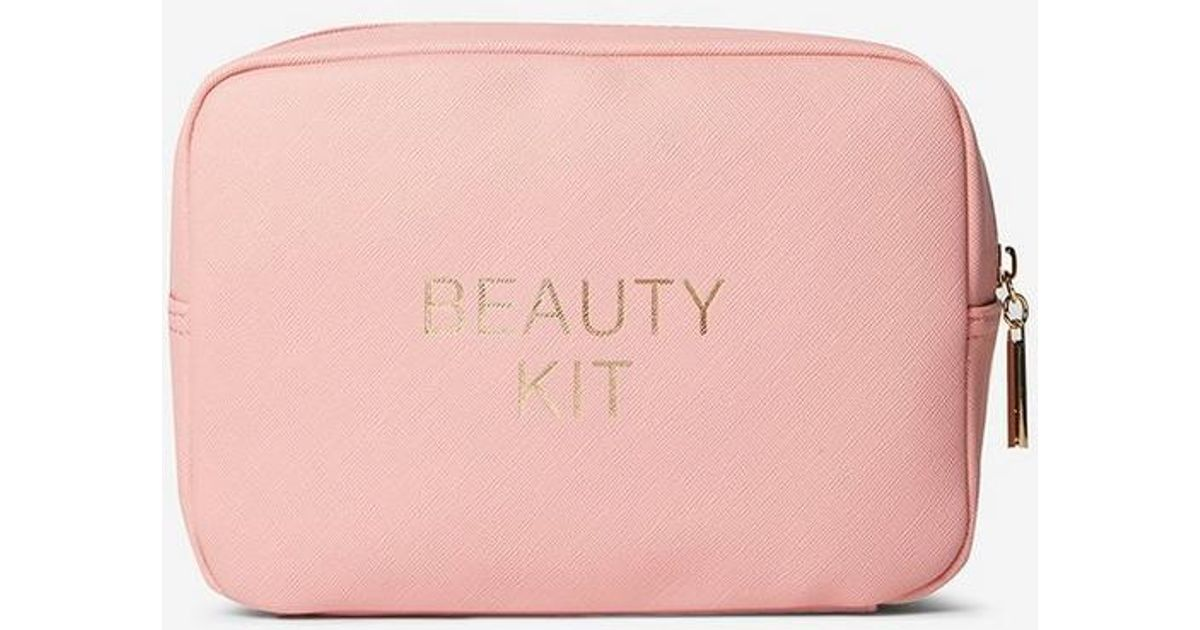 9d298fb49d Dorothy Perkins Pink Slogan Makeup Bag in Pink - Lyst
