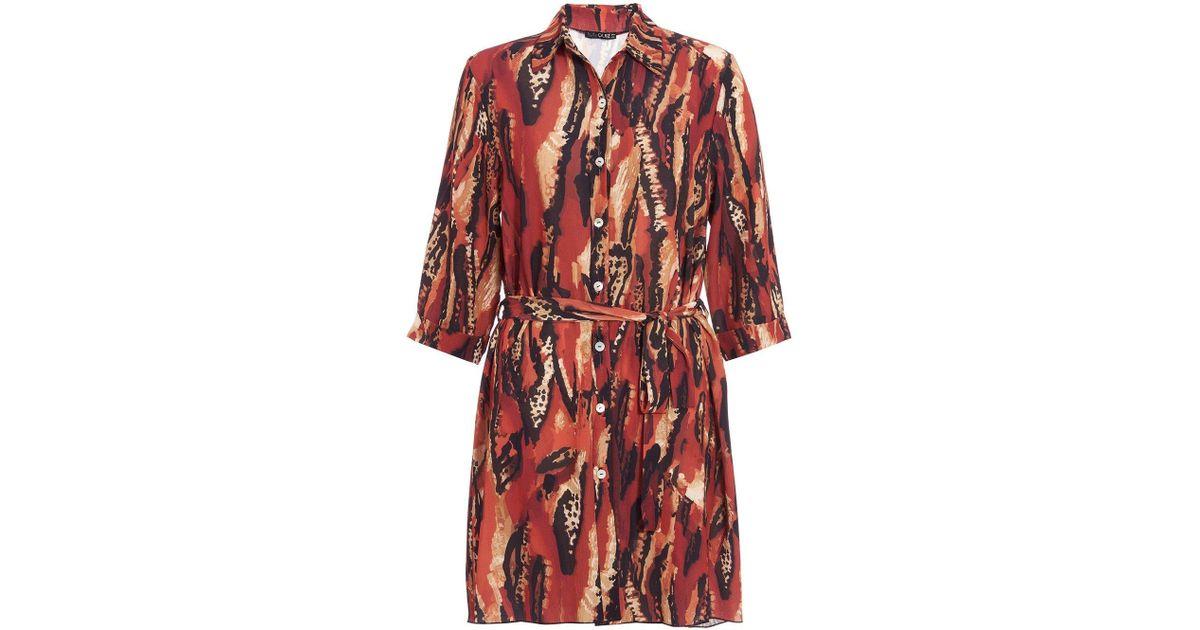 7392bb6e5073 Lyst - Dorothy Perkins Quiz Multi Colour Print Shirt Dress in Red