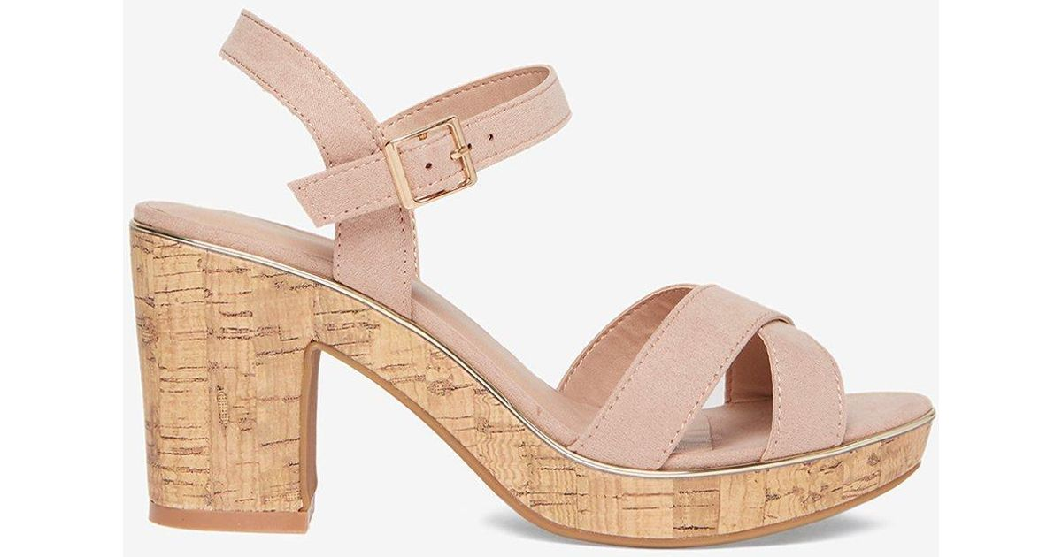 49df1aafa0616 Lyst - Dorothy Perkins Blush  romy  Platform Sandals in Pink