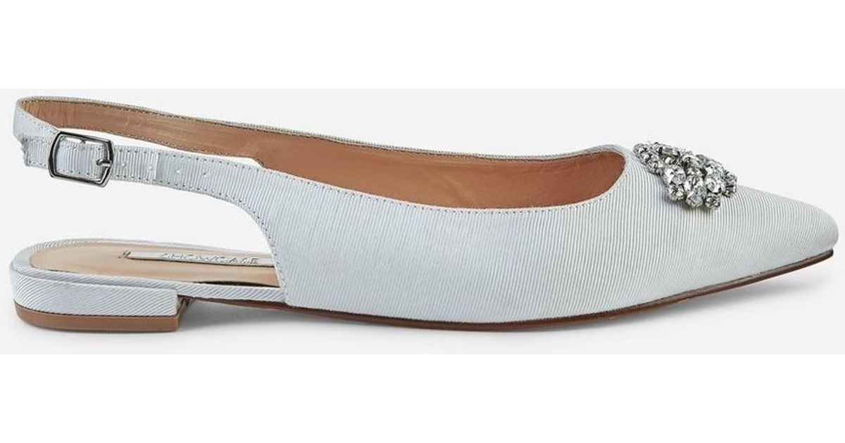 9170a07a5 Lyst - Dorothy Perkins Showcase  petrona  Jewelled Flat Court Shoes in White