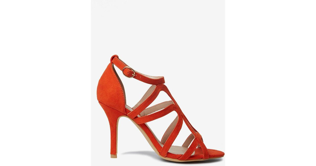 Dorothy Perkins Wide Fit WIDE FIT BAXTER - High heeled sandals - orange i2MjO8ikg