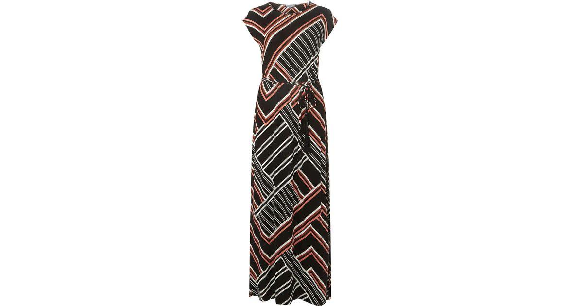 Sale Pick A Best Genuine Dorothy Perkins Womens **Tall Multicolour Geometric Tie Waist Maxi Dress- Cheap Price Top Quality 382uSj