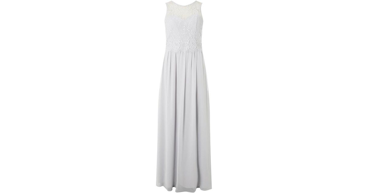 4da1af07491 Dorothy Perkins Showcase Bridesmaids Tall Grey  grace  Maxi Dress in Gray -  Lyst