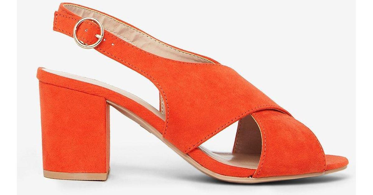 Dorothy Perkins - Red Wide Fit  simone  Heeled Sandals - Lyst 14a48f51a389