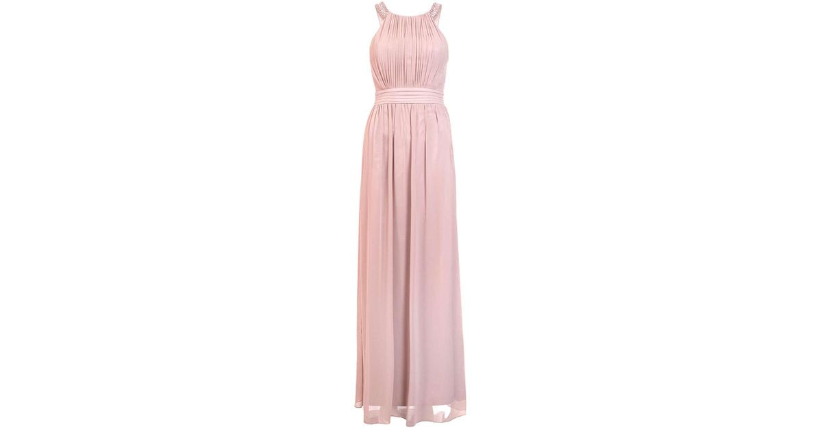 f8a6f259900 Lyst - Dorothy Perkins Quiz Pale Pink Embellished Maxi Dress in Pink