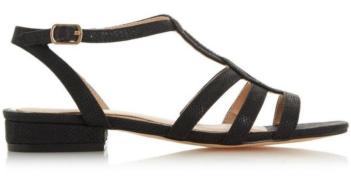 acf77a7afb1 Lyst - Dorothy Perkins Head Over Heels By Dune Black  juney  Ladies Flat  Sandals in Black