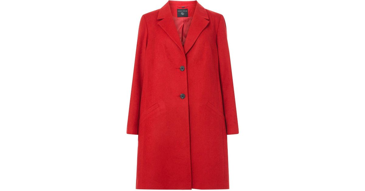 9da83615285 Dorothy Perkins Dp Curve Red Duster Coat in Red - Lyst