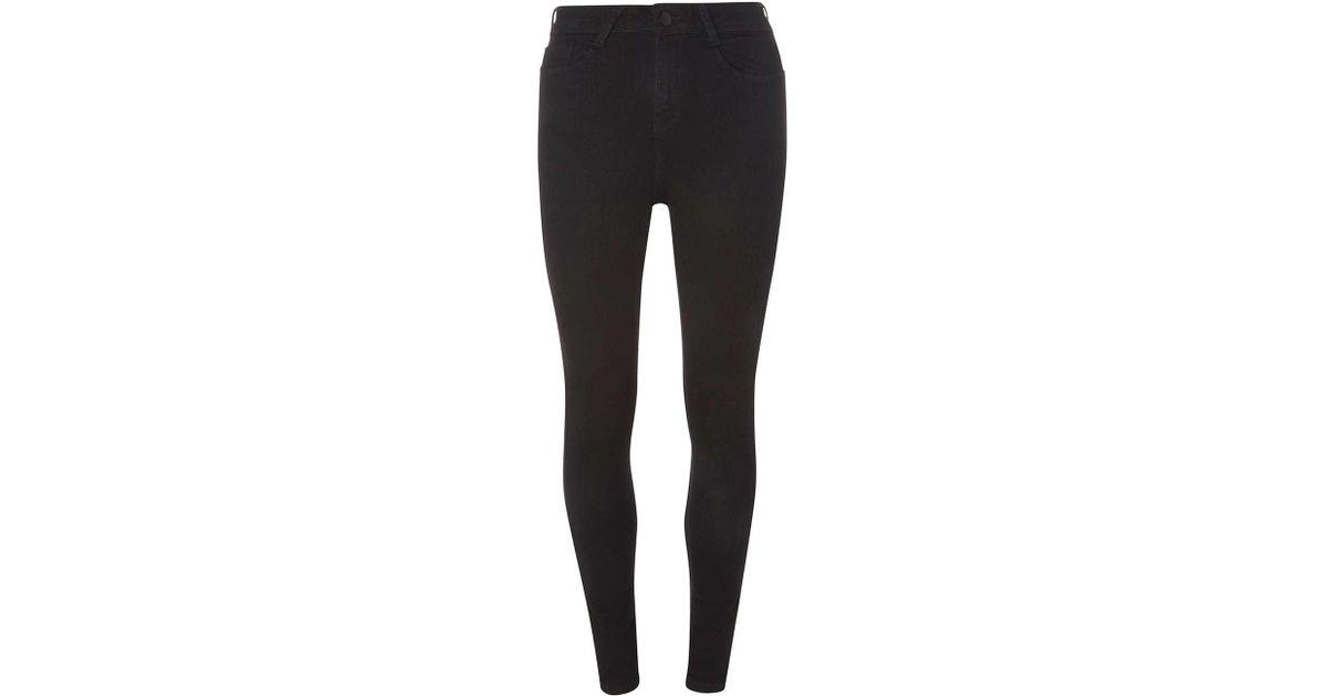 6519e093b0d1 Dorothy Perkins Tall High Waist 'bailey' Super Skinny Stretch Jeans in Black  - Lyst