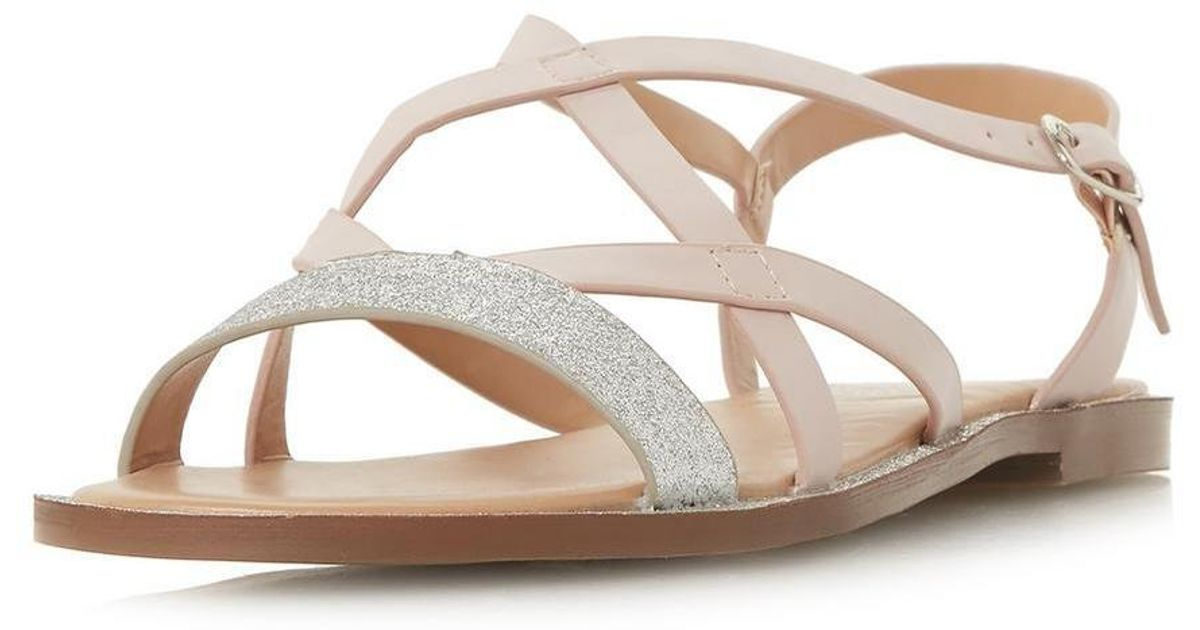 6d4d730d46f4 Lyst - Dorothy Perkins Head Over Heels By Dune Nude  liima  Flat Sandals in  Natural