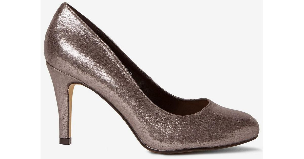 cfb9fc9687 Dorothy Perkins Wide Fit Pewter  dallas  Court Shoes in Gray - Lyst