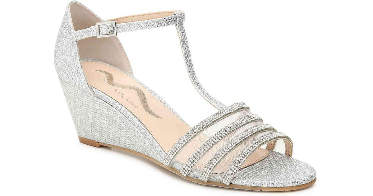10055cd7dd2 Lyst - Nina Nolah Wedge Sandal in Metallic