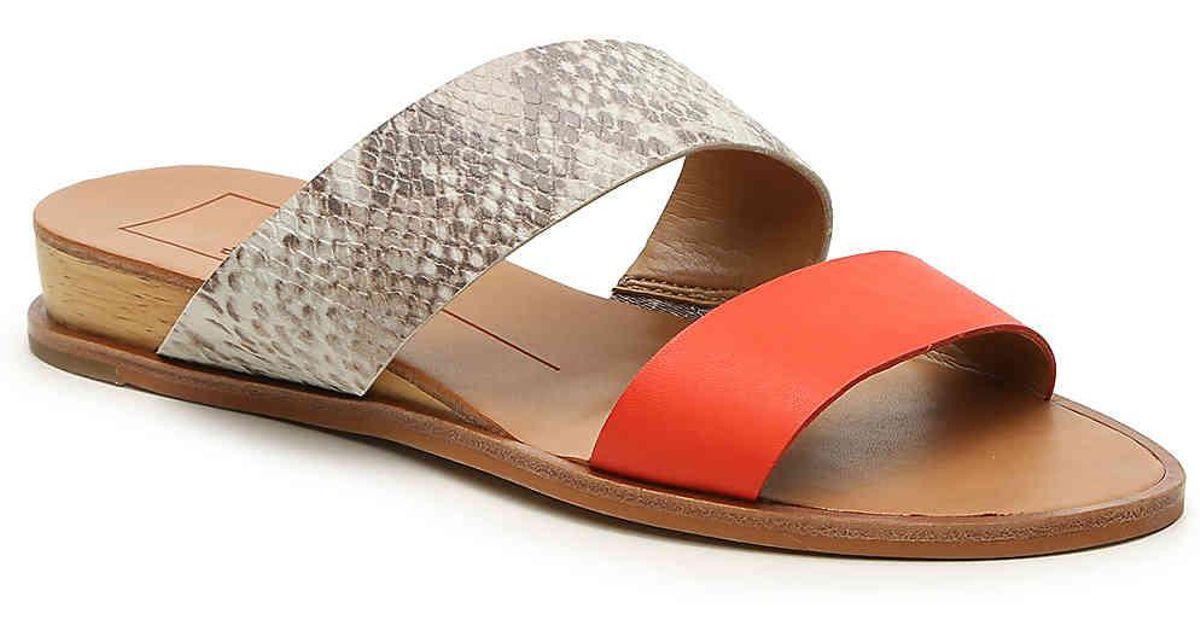 0e06fa219f5d Lyst - Dolce Vita Paci Wedge Sandal in Gray