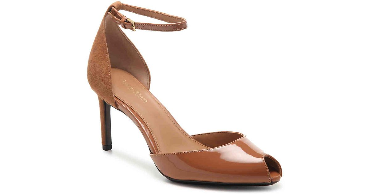 d322ad0347 Calvin Klein Saiden Sandal in Brown - Lyst