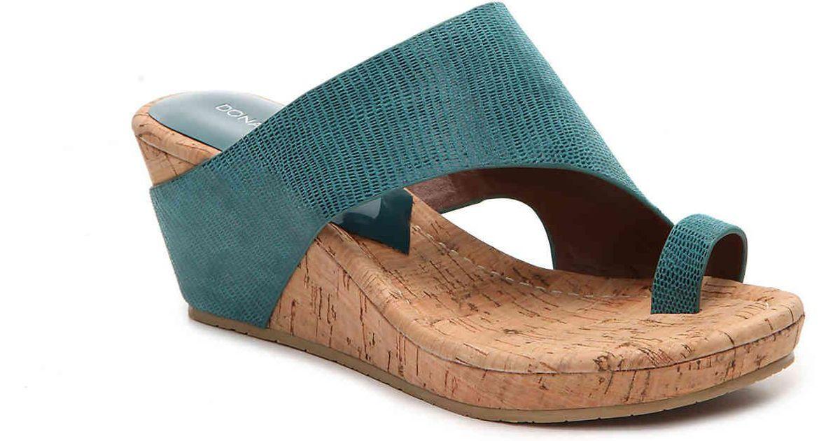 67758e192ad5 Lyst - Donald J Pliner Gyer Wedge Sandal in Blue