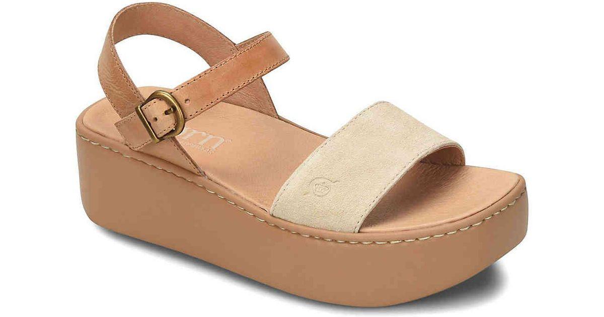 efaff0a4628 Lyst - Born Breaker Platform Sandal in Brown