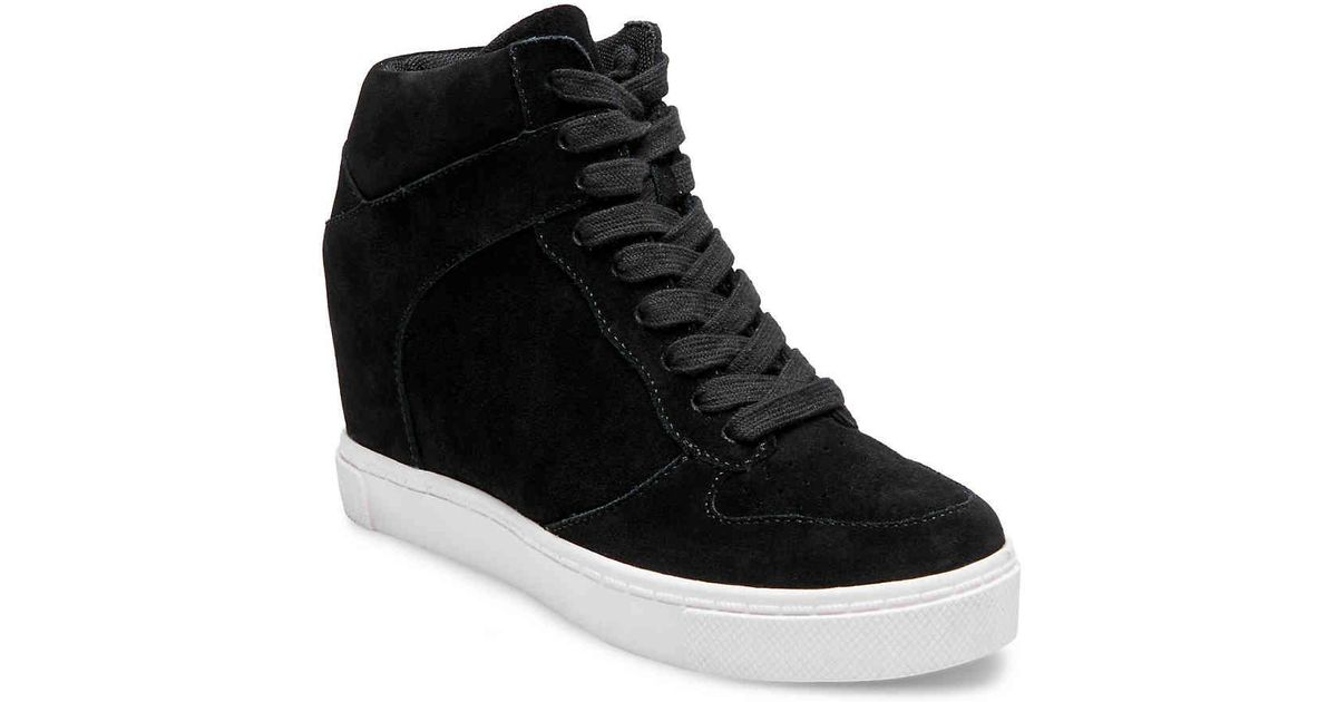c959bbb2d7e0 Lyst - Steve Madden Noah Wedge Sneaker in Black