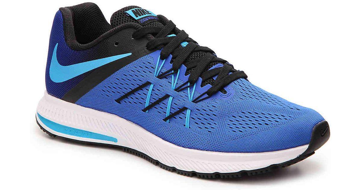 634a0779687e Lyst - Nike Zoom Winflo 3 Lightweight Running Shoe in Blue for Men