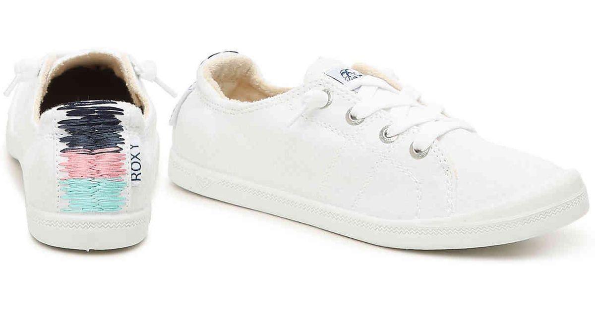 19081dbfb331 Lyst - Roxy Bayshore Iii Slip-on Sneaker in White - Save 39%