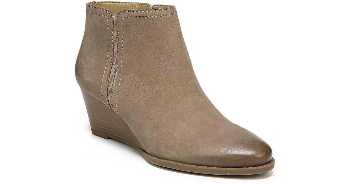 f77fbb10d1bb Lyst - Franco Sarto Wera Wedge Bootie in Natural