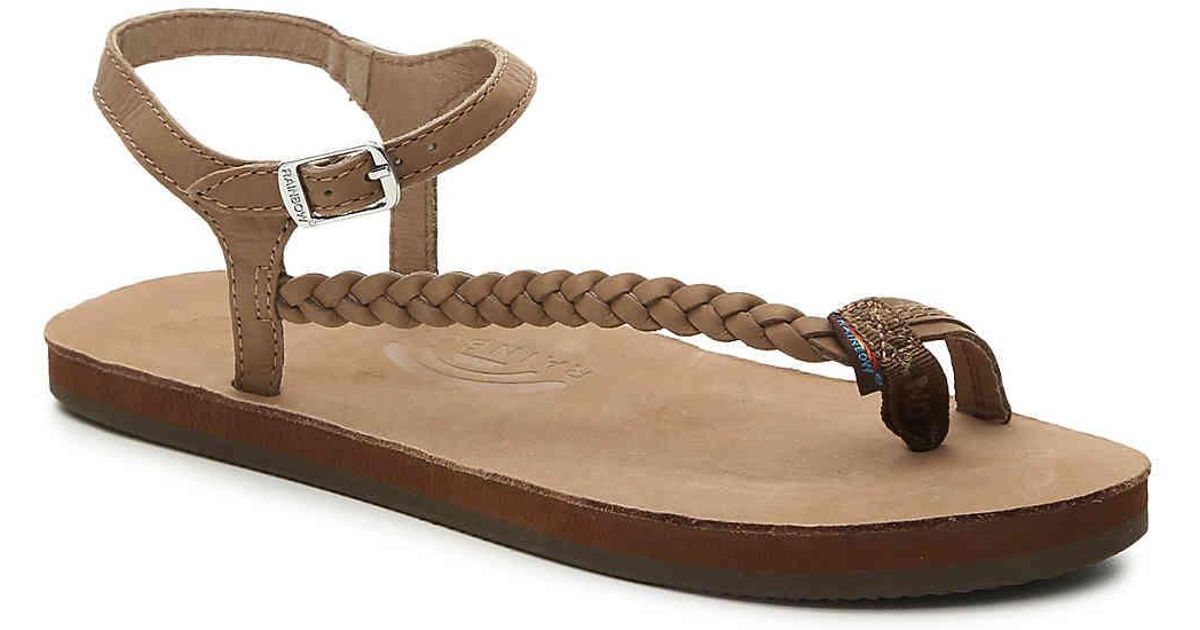 3089e5530 Lyst - Rainbow Sandals Marley Flat Sandal in Brown