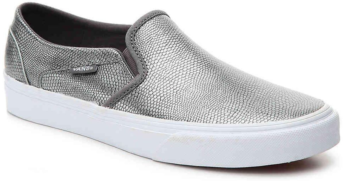 5c4985c06f Lyst - Vans Asher Slip-on Sneaker in Metallic