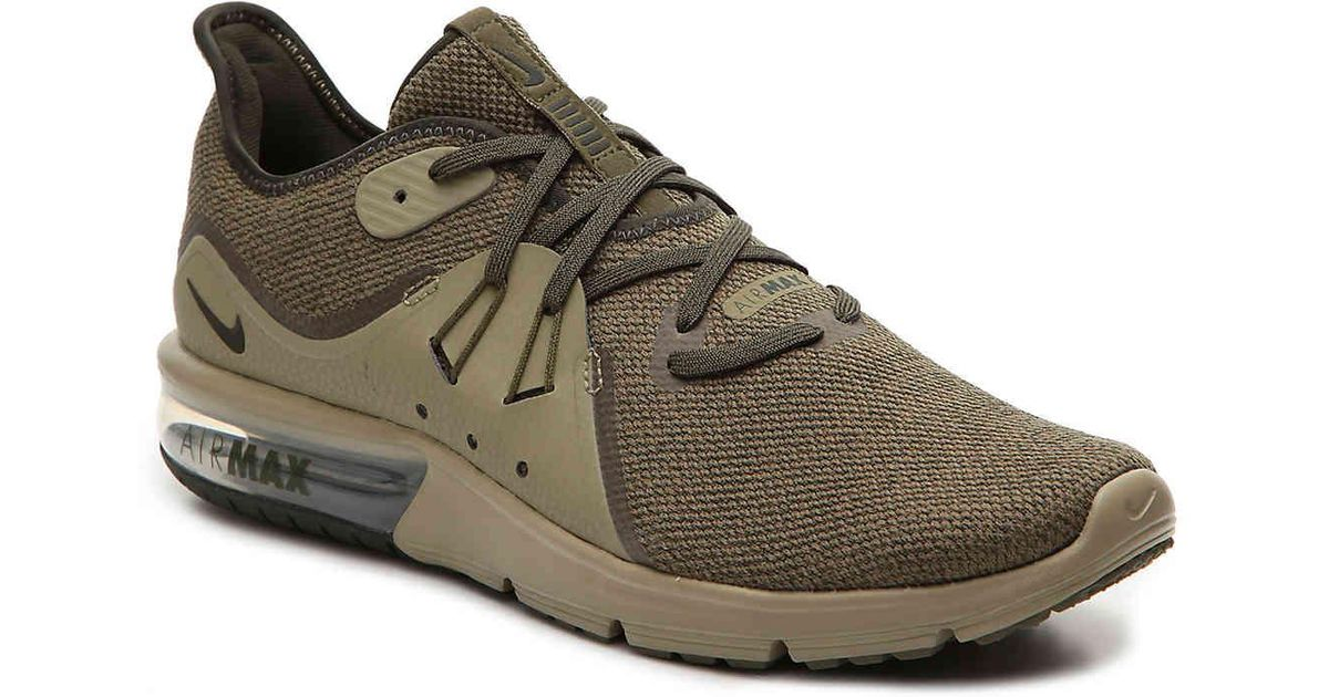 039ae9e9bb7 ... real lyst nike air max sequent 3 running shoe in green for men eba18  67248