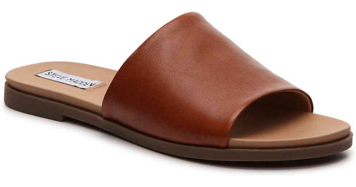 7757ac3eac6 Lyst - Steve Madden Karolyn Flat Sandal in Brown