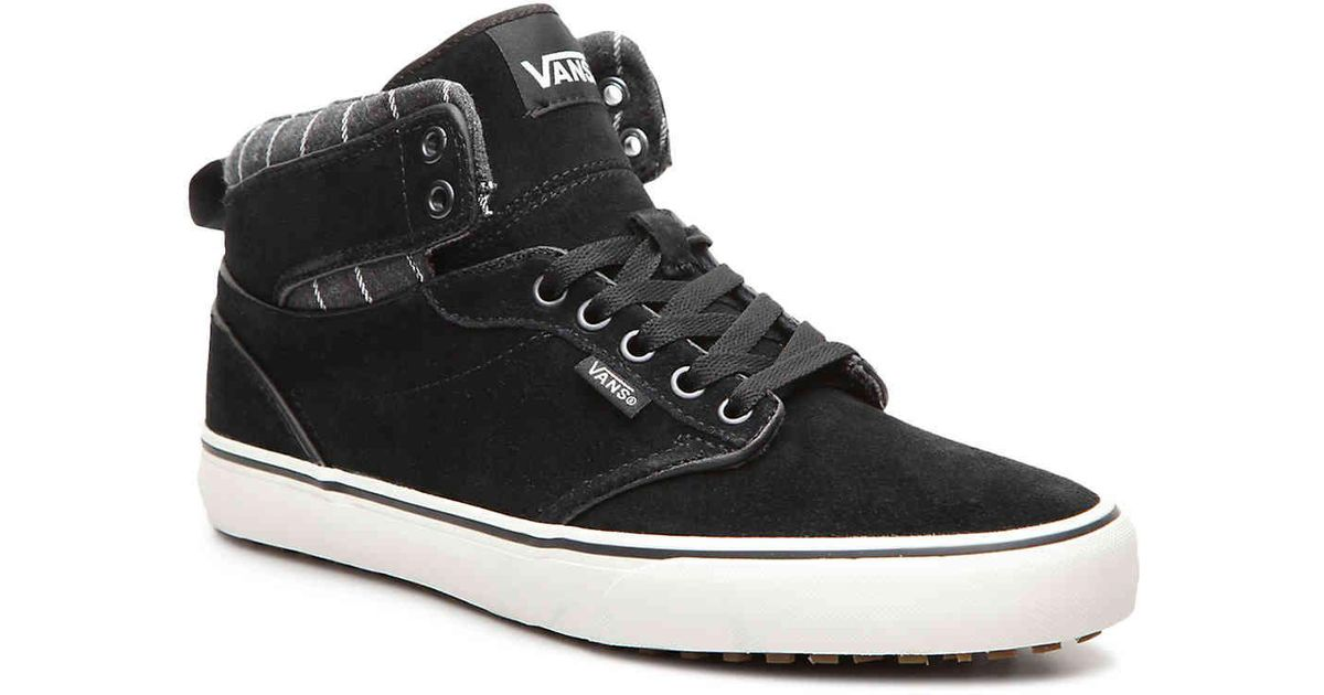 Vans Black Atwood Hi Mte High top Sneaker for men