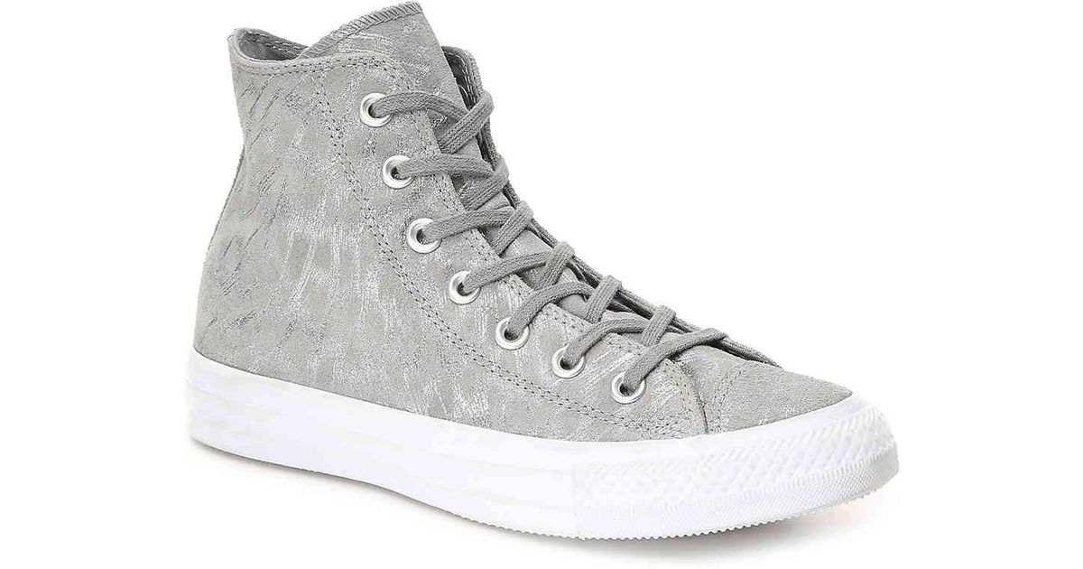 90e604f739aa21 Lyst - Converse Chuck Taylor All Star Shimmer Suede Hi Mason mason white  Shoes (high-top Trainers) in Gray