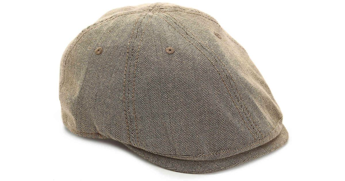 adf10fea3e6 Lyst - Original Penguin Herringbone Newsboy Cap in Brown for Men
