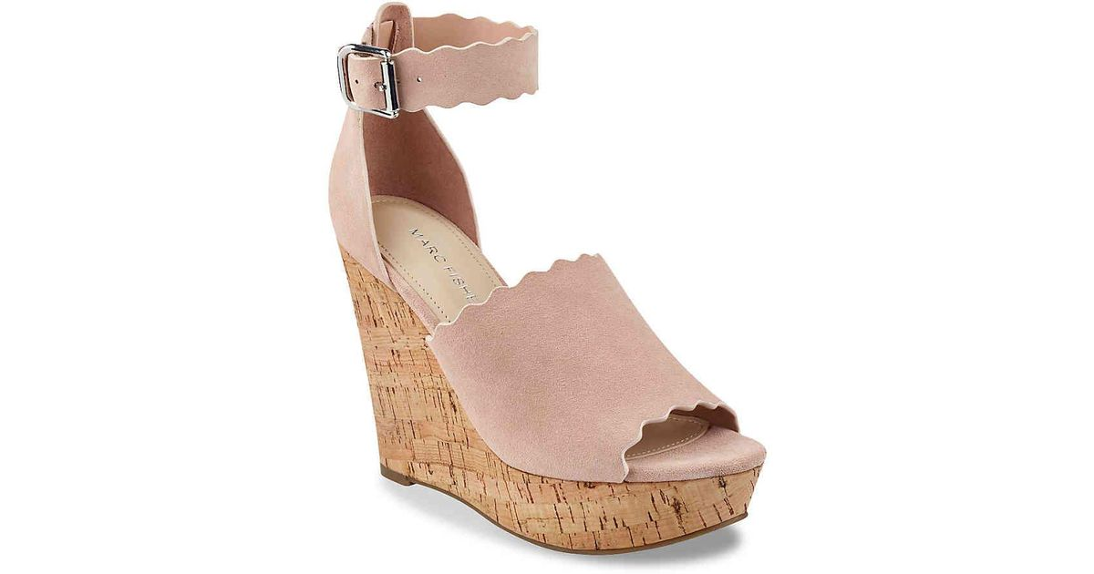c40644b1b1 Marc Fisher Hayo Wedge Sandal in Pink - Lyst