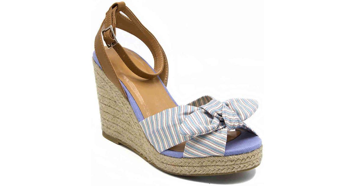 Nautica Curia Platform Espadrille Wedge Sandals Women's Shoes 9HTeGn