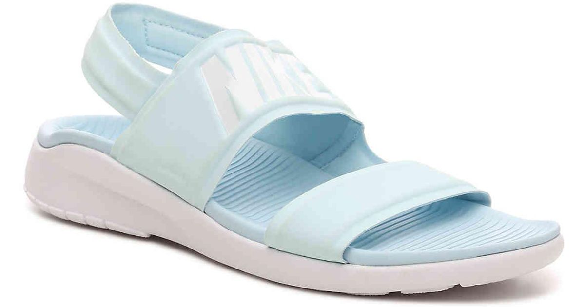 165118b422cd29 Lyst - Nike Tanjun Sport Sandal in Blue