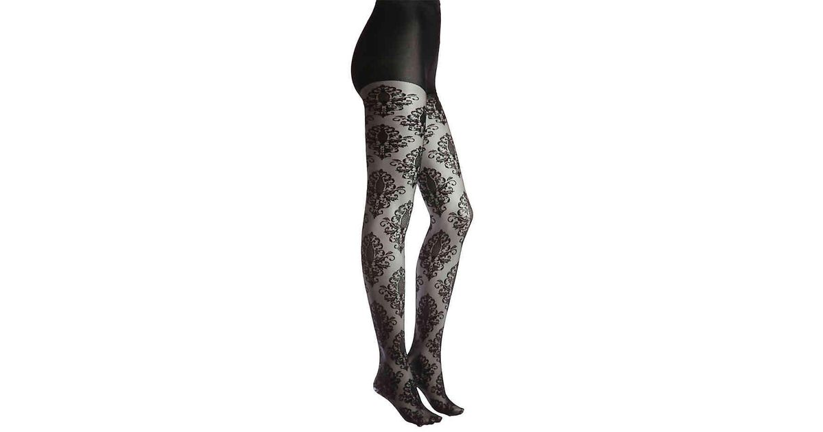 bf447a906 Memoi Medaln Tights in Black - Lyst